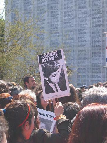Protest von Angehörigen der Diktatur-Opfer in Chile