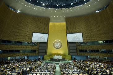 138 Staaten stimten für Palästina, neun dagegen, 41 enthielten sich.