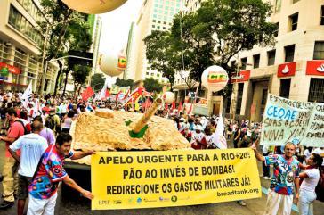Demonstration anlässlich der Rio+20-Konferenz