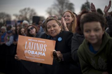 """""""Latinos für Obama"""": Eine Frau im Wahlkampf für den wiedergewählten US-Präsidenten"""
