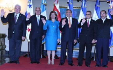 Fünf Präsidenten und eine Präsidentin Zentralamerikas