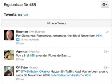 Über soziale Netzwerke wie Twitter wurde massiv mobilisiert