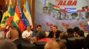 ALBA-Vertreter im Präsidentenpalast in Caracas