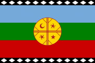 Flagge der Mapuche-Bewegung