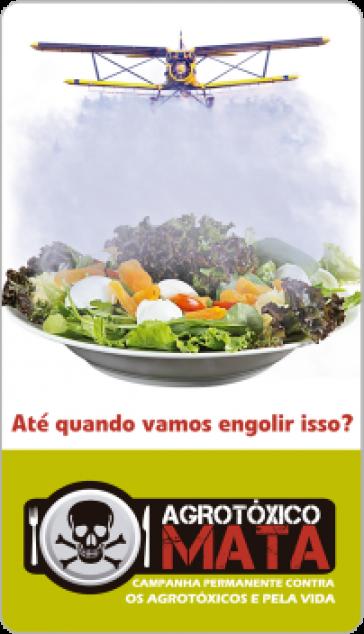 """Kampagnenlogo """"Agrotóxico Mata"""""""