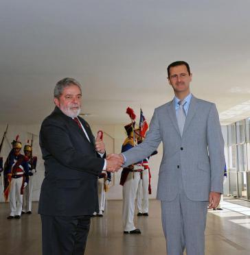 Brasiliens Ex-Präsident Da Silva und Assad