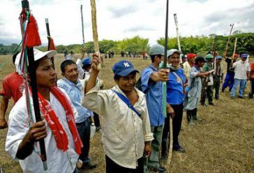 Vertreter der indigenen Räte von Nord-Cauca