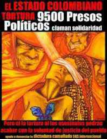 Plakat in Solidarität mit den Gefangenen in Kolumbien