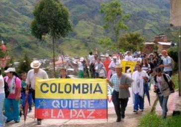 Friedensdemonstranten in Kolumbien