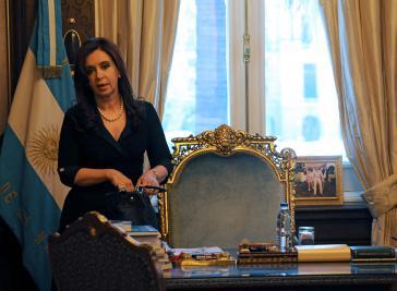 Cristina Fernández räumt vorübergehend ihren Stuhl.