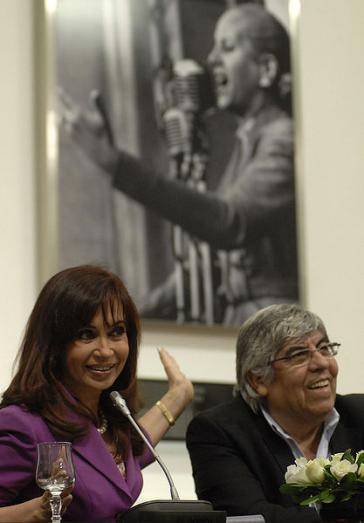 Ein Bild aus besseren Tagen: Präsidentin Cristina Fernández und CGT-Chef Hugo Moyano