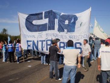 Aktivisten der Gewerkschaft CTA