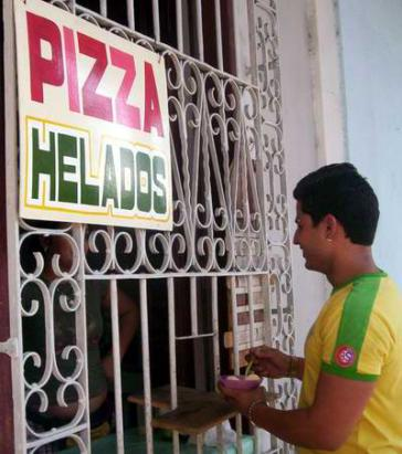 Pizzaverkauf in Havanna