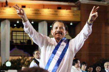 Daniel Ortega -- hier bei seiner Amtseinführung