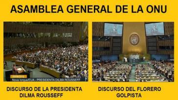 Teilnehmer bei Dilma Rousseff. Bei Federico Franco blieb der Saal leer