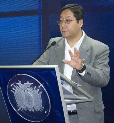 Wirtschafts- und Finanzminister Luis Arce stellt Jahresbericht 2012 vor