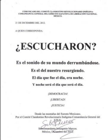 Kurz und knapp: Das neue Kommuniqé der EZLN