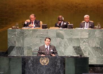 Federico Franco vor der UNO