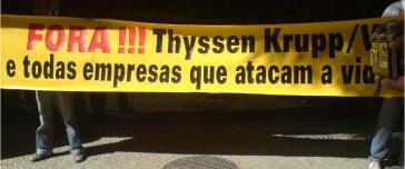 Protest gegen Thyssen-Krupp / Vale in Rio