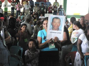 Gedenken an die Opfer der Konflikte in Bajo Aguán