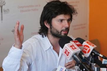 Gabriel Boric, einer der Sprecher von CONFECH