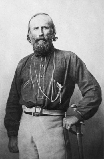 Aufnahme von Giuseppe Garibaldi aus dem Jahr 1861