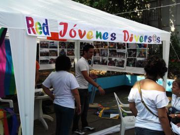 Informationsstand von Aktivisten in Havanna