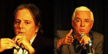 Luciano Sanín (links) und Jorge Enrique Robledo in Berlin