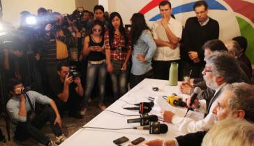 Fernando Lugo stellt den Aufruf an die Bevölkerung vor