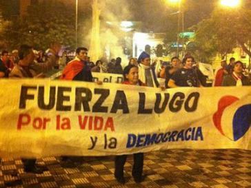 Demonstration für Fernando Lugo