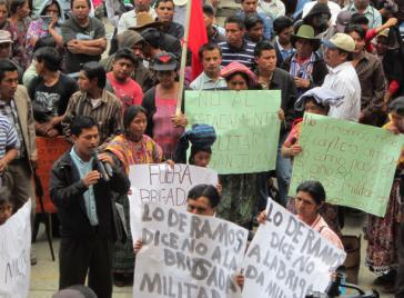 Proteste gegen Militärbasis in San Juan