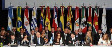 Staats- und Regierungschefs beim Mercosur-Gipfel in Mendoza