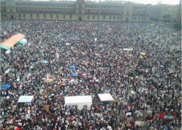 Massenhafter Protest gegen das Wahlergebnis am vergangenen Samstag in Mexiko-Stadt