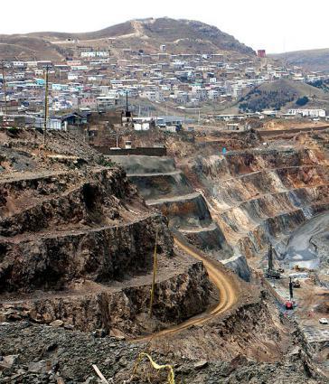 Bergbaugebiet Cerro Pasco in Peru