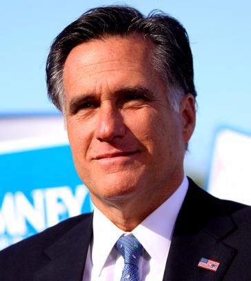 Den aktuellen Präsidentschaftskandidaten Mitt Romney ...