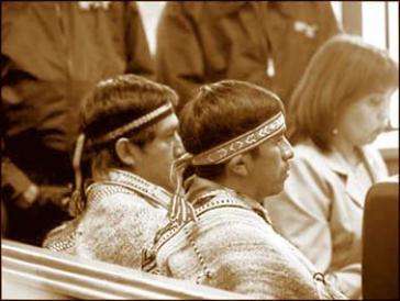Klagen wegen Verletzung ihrer Menschenrechte: Aniceto Norín und Pascual Pichún