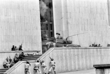 Sturm auf den besetzten Justizpalast im Novemer 1985