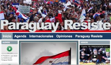 Internetseite der FDD in Paraguay
