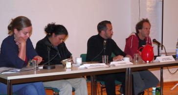 Podium mit Bertha Cáceres