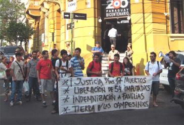 Unterstützungsaktion in Asunción für die politischen Gefangenen im Hungerstreik