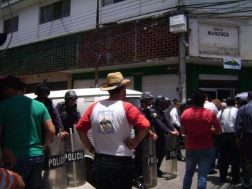 Während der Proteste in Tegucigalpa