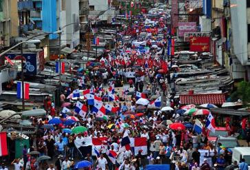 Proteste gegen das Gesetz 72 in Colón, Panama