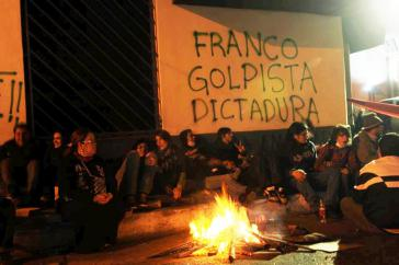 Proteste in Asunción gegen der Sturz von Fernando Lugo
