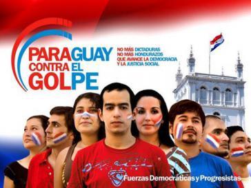 Kampagne gegen den Putsch in Paraguay