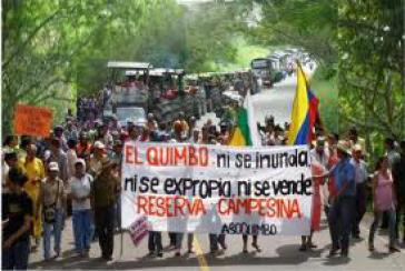 Demonstration gegen das Megaprojekt El Quimbo