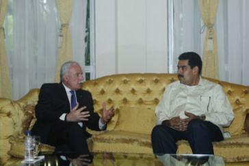 Außenminister al Maliki und Maduro in Caracas