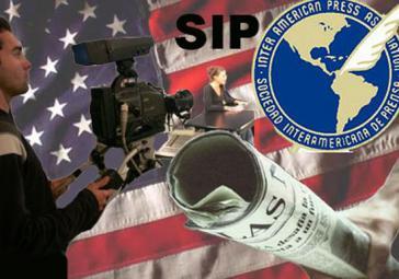 """Kollage: """"Pressefreiheit made in USA"""""""