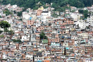 Favela in Rio de Janeiro, Brasilien