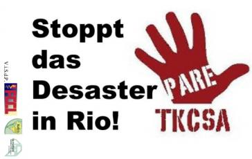 Kampagnenflyer Stoppt TKCSA