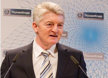Heinrich Hiesinger auf der Hauptversammlung